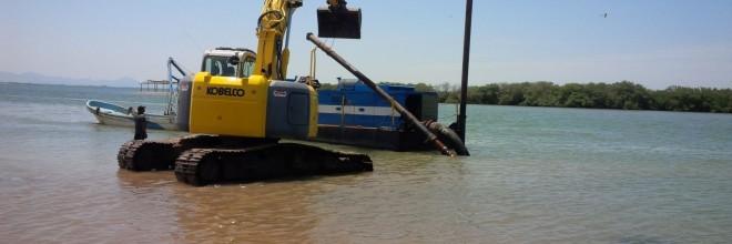 Desazolve de Dársena y Canal de Navegación en el Campo Pesquero El Coloradito, Bahía de Navachiste, Municipio de Guasave, Sinaloa, Operado con Recursos del FONDEN, Dependencia: CONAPESCA.
