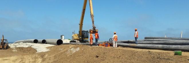 Trabajos de Dragado de Construcción en el Puerto de Ensenada, Baja California
