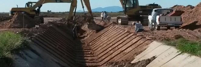 Modernización mediante el Revestimiento de Concreto del Canal Principal Margen Derecha del Rio Sinaloa, incluyendo estructuras de control y Operación del Km. 66+650 al Km 70+834, Distrito de Riego 063 Guasave. Municipio de Sinaloa, Operado con CONAGUA'
